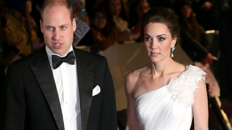 Prins William Kate Middleton iført kveldsklær