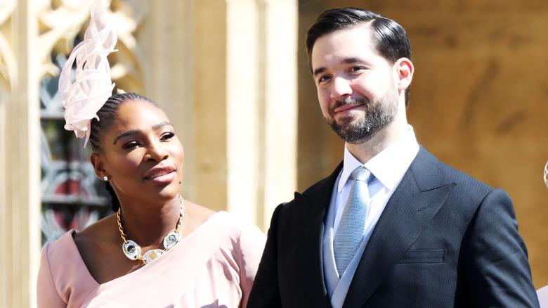 Serena Williams og Alexis Ohanian i bryllupet til Meghan Markle