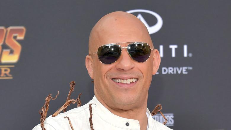 Vin Diesel poserer på den røde løperen