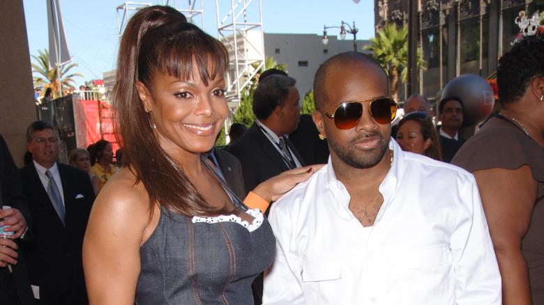 Janet Jackson og Jermaine Dupri på den røde løperen