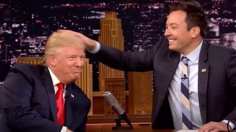 Donald Trump og Jimmy Fallon på TV