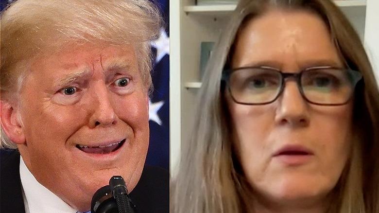 Donald Trump og Mary Trump opprørt