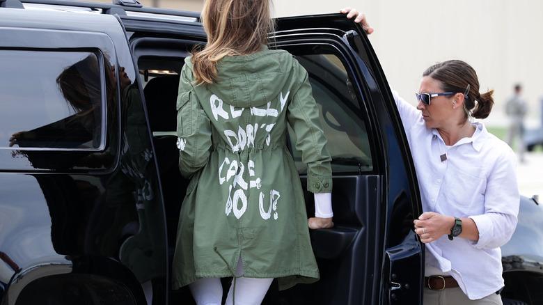 Melania Trumps beryktede jakke