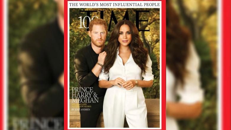 Forsiden til prins Harry og Meghan Markle TIME