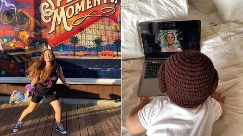 Billie Lourd på Disneyland, Billie Lourds sønn ser på 'Star Wars'