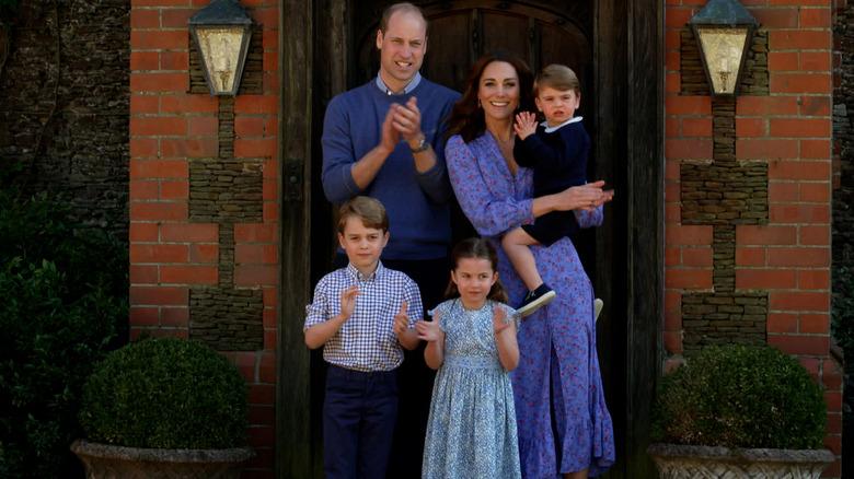 Familiebildet Cambridges