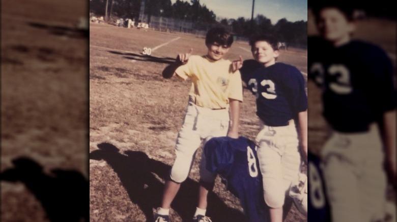 Channing Tatum og vennen Corey som barn
