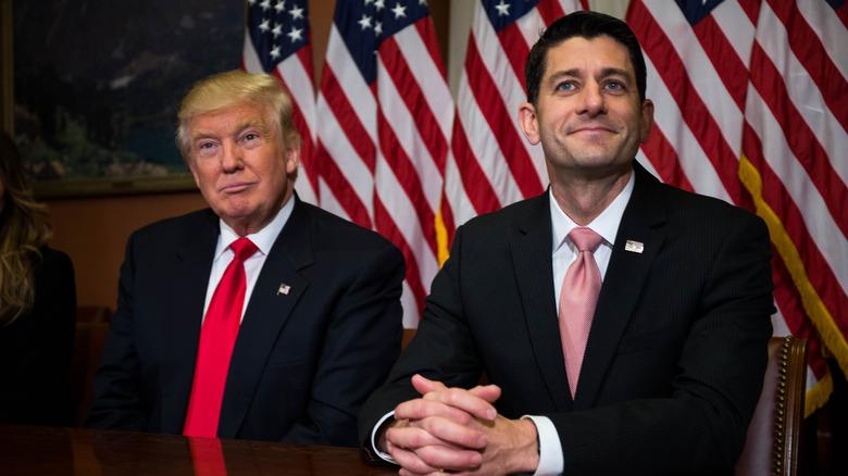 Paul Ryan og Donald Trump på et arrangement
