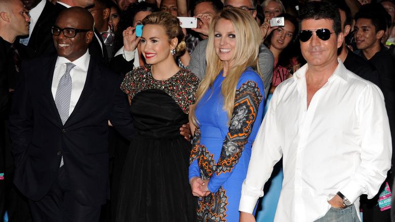 Britney Spears med Demi Lovato, Simon Cowell, LA Read