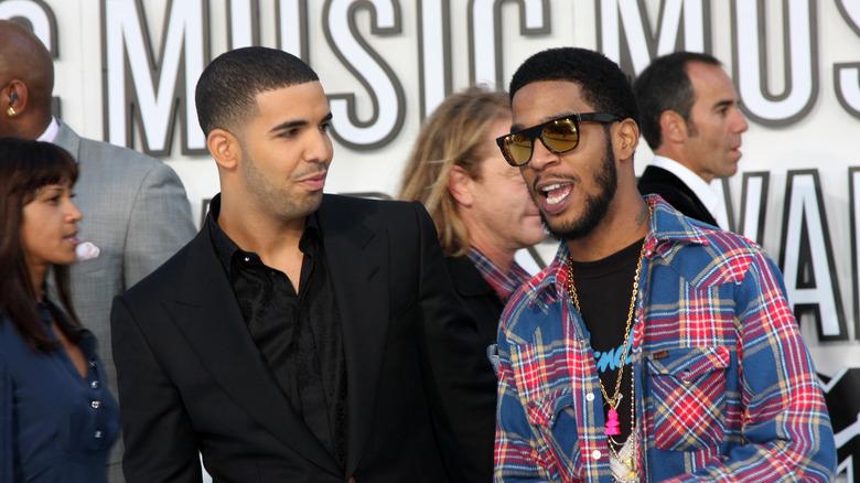 Drake og Kid Cudi poserer