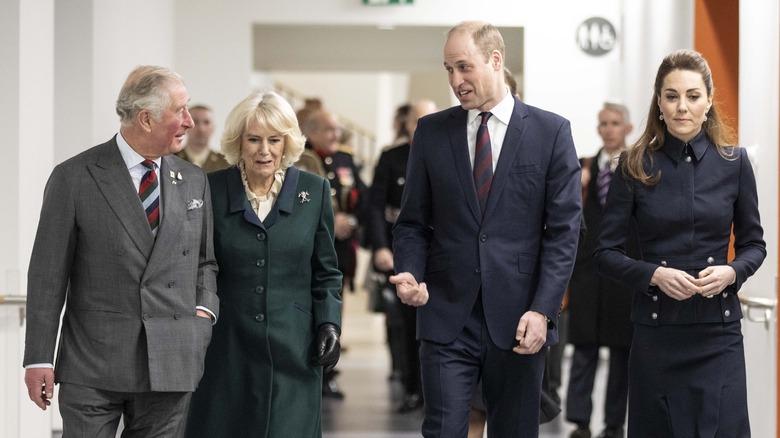 Prins Charles, Camilla Parker Bowles, prins William og Kate Middleton