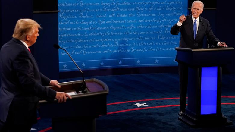 Joe Biden og Donald Trump debatterer