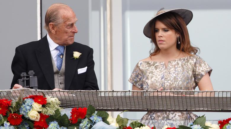 Prins Philip i bryllupet til prinsesse Eugenie