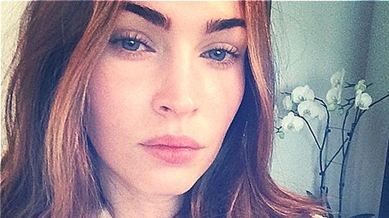 Megan Fox bare ansikt selfie