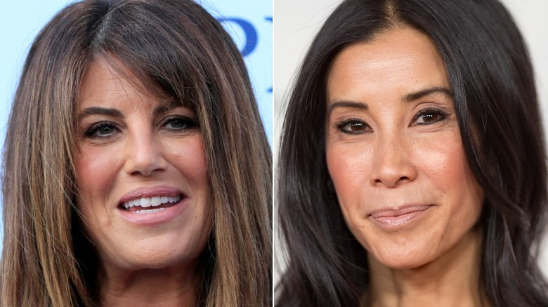 Monica Lewinsky smiler og Lisa Ling poserer