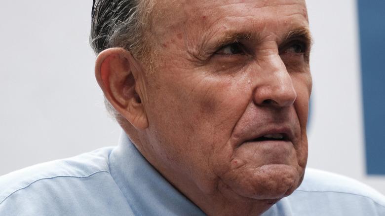 Rudy Giuliani på et rally i 2021 for Curtis Sliwa