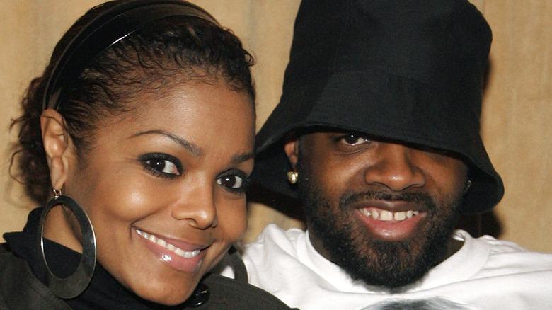 Janet Jackson og Jermaine Dupri smiler